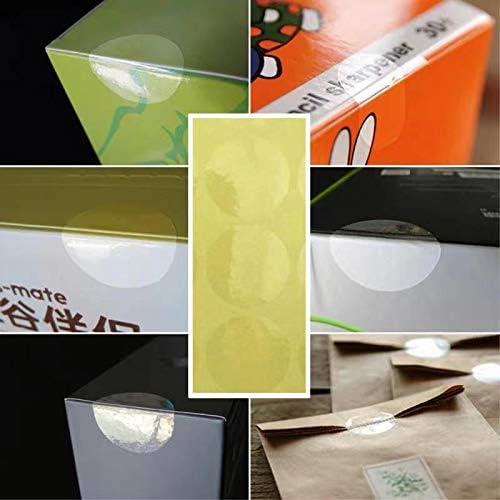 con sigillo trasparente confezione da 2160 etichette. Etichette trasparenti trasparenti rotonde da 25 mm