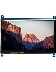 7 tums HDMI LCD HD-pekskärm, 1024 x 600 kapacitiv bildskärm för Raspberry Pi, 5 professionella pekpunkter för Raspberry Pi 3/2/1