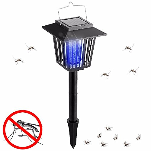 GRH Solar Power Electric High Voltage Mosquito Fly Insect Repeller Killer