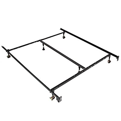 Best Choice Products Metal Bed Frame Adjustable Queen Full Twin Size W/Center Support