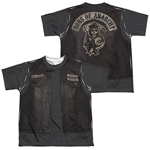 Youth: Sons Of Anarchy- Juice Costume Tee (Front/Back) Kids T-Shirt Size YL