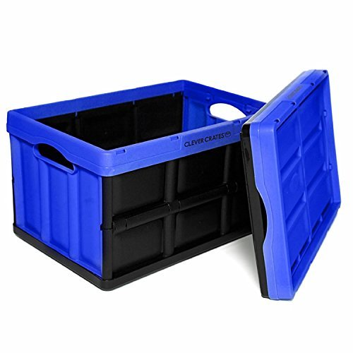 3x 33l black heavy duty plastic folding storage crate. Black Bedroom Furniture Sets. Home Design Ideas
