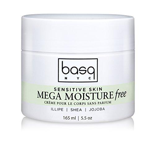 Shea Butter Mega Moisture - Basq Mega Moisture Free Cream, Fragrance Free, 5.5 Ounce
