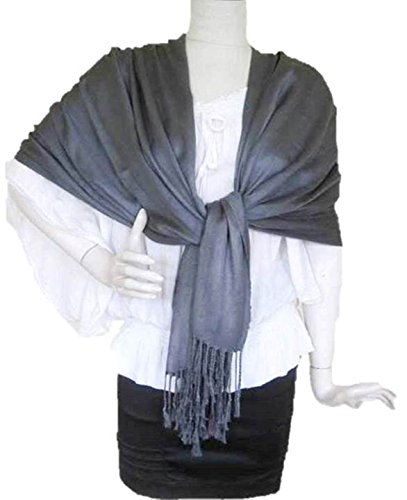 Bed Head Eiffel Tower (Solid Pashmina Shawl Cashmere Wrap Cardigan Women Scarf Top Light Weight Extra Wide Long Large Head Scarves Throw Blanket (Dark Grey))