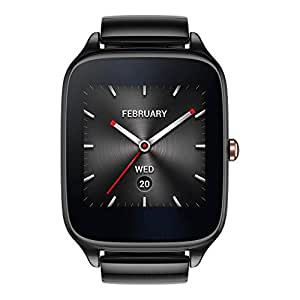 ASUS ZenWatch 2 WI501Q (BQC) Smart Watch - International Stock - Gunmetal Case with Grey Metal Band
