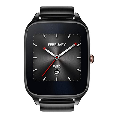 ASUS ZenWatch 2 WI501Q (BQC) Smart Watch - International Stock - Gunmetal Case with Grey Metal Band by Asus