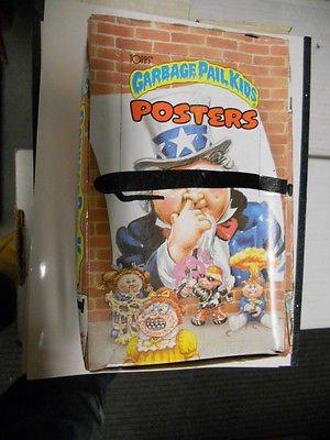 Garbage Pail Kids Poster (Garbage Pail Kids Posters rare full unopened vintage box of larger cards 1980s)