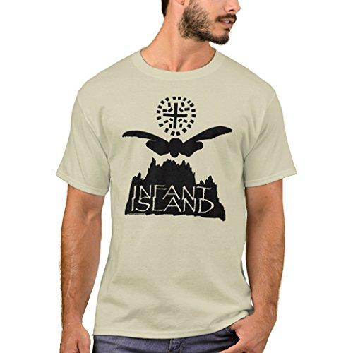 Zazzle Men's Basic T-Shirt, Infant Island Shirt, Sand L