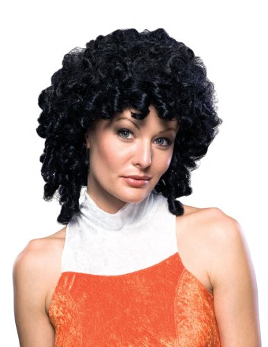 Rubie's Deluxe Curly Top Wig, Black, One Size
