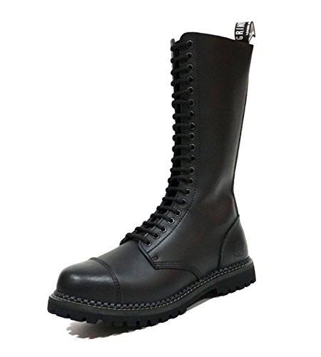 Look Black Real Leather Derby Designer Boots Vintage Mens Grinders Western King qUf6XW