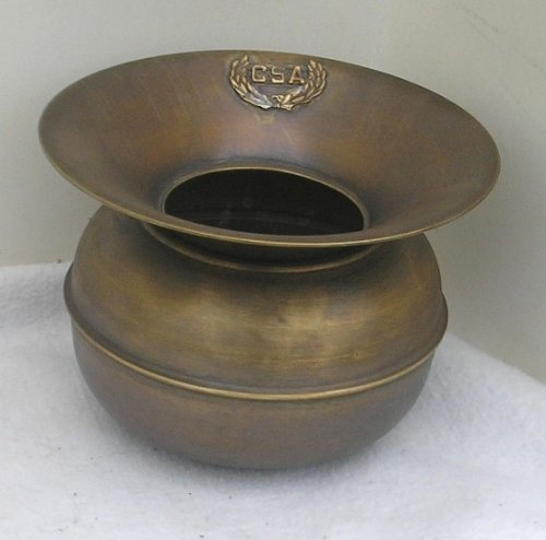 Solid Brass CSA Confederate States Spittoon Cuspidor ()