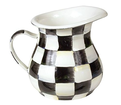MacKenzie-Childs Enamel Creamer - Courtly Check  by MacKenzie-Childs (Image #1)
