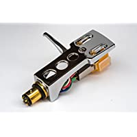 Mirror Chrome plated Headshell, mount, cartridge and stylus, needle for Numark TT250usb, X2, NTX1000, TT-2400, TT-1400, PRO TT1, PRO TT2, - MADE IN ENGLAND