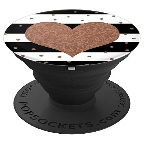 - Heart - Matte Rose Gold - Design Series - PopSockets Grip and Stand for Phones and Tablets