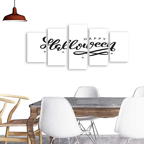 Five Pieces Wulian PaintingVector realistic isolated typography for Halloween and spiders for decoration and covering on the white background Concept of Happy Halloween . Living Room Office Decor -