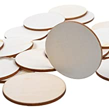 """M-Aimee 100-piece 2"""" Round Disc Unfinished Wood Cutout Circles for Creating Jewelry Painted Christmas Tree Decorated/craft Projects (2 Inch)"""
