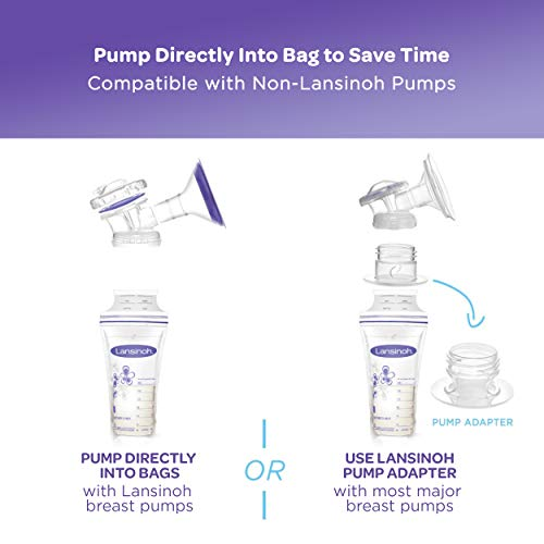 Amazon Com Lansinoh Breastmilk Storage Bags With Pump Adapters