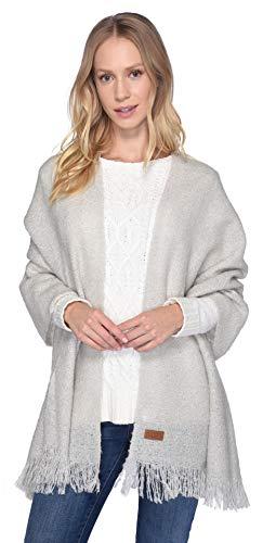 UGG Women's Boucle Knit Wrap Light Grey Heather One Size
