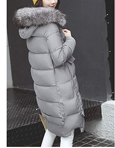 Transición De Manga Rot Larga Con Casual Abrigo Ropa Delanteros Bolsillos Lannister Cremallera Invierno Fashion Parka Unicolor Pluma Mujer Chaqueta Capucha 1zxUTA4