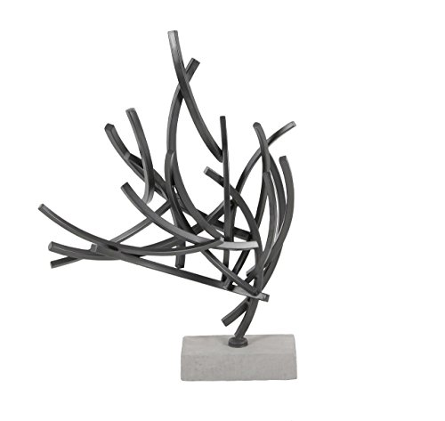 Deco 79 59481 Abstract Iron Sculpture with Cement Base, 23
