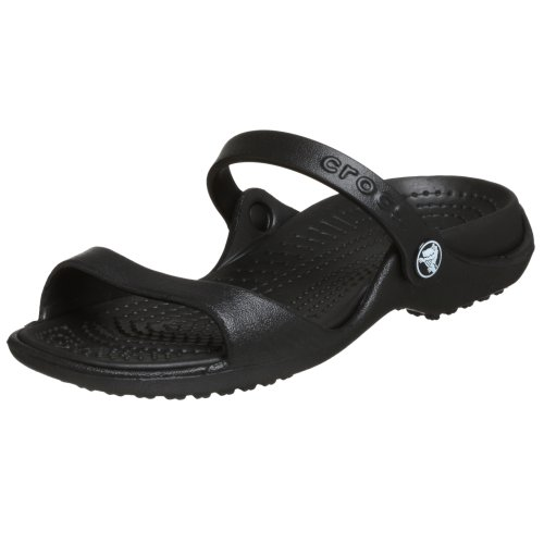 Crocs Women's Cleo Black/Black Croslite Sandals - 8 B(M) US