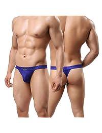 MuscleMate Premium Men's Thong G-String Underwear, Hot Men's Thong Undie, No Visible Lines.
