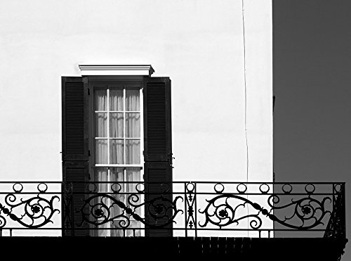 Vintography 18 x 24 B&W Photo Window Balcony Railing at The United States Trade Representative's Winder Building, Washington, D.C. 2011 Highsmith 84a