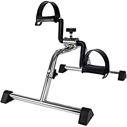 Vaunn Medical Pedal Exerciser Chrome Frame (Exerciser Peddle - Simple and Quick Assembly)