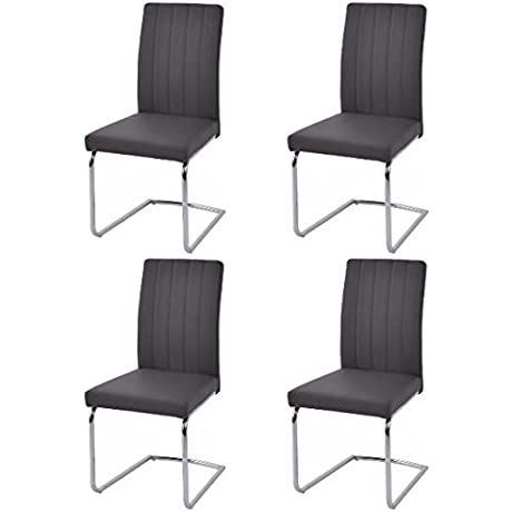 K A Compoany Dining Chairs Steel Century Vintage Solid Mid Quality Modern Set Of 4 PU Leather