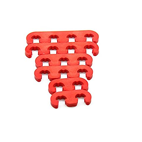 Big-Autoparts 9727 Ignition Wire Loom/Separator Competition Plastic/Red 7-8mm Kit (Ignition Wire Separator)