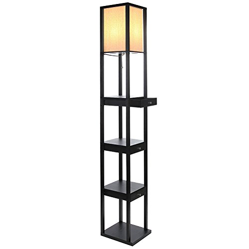 Brightech Maxwell Drawer Floor Lamp