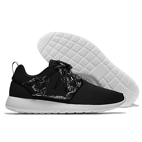 YU Yuyu A Black Water Rooster with Three Water Chicks Leisure Sports Shoes Printing Running Shoe -