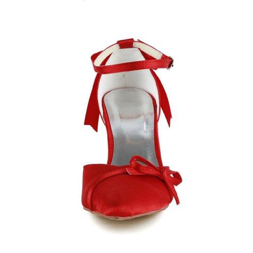Jia Jia Wedding A313B chaussures de mariée mariage Escarpins pour femme Rouge VBBCVXqO