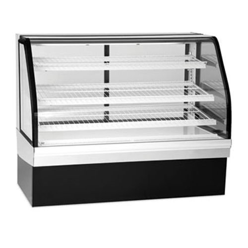 Federal Industries ECGR-77 Bakery Display Case Refrigerated Tilt Out Curved Glass 77 Long x 48 High