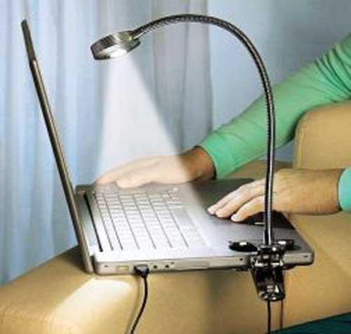 Edelstahl Usb Led Notebook Lampe Laptop Pc Licht Amazon De