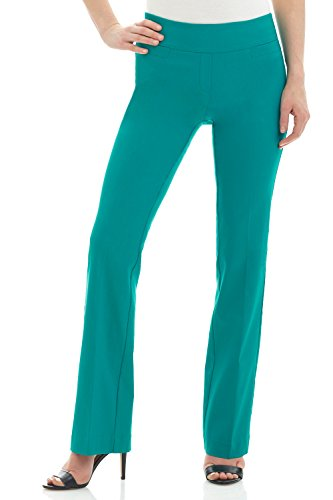 Rekucci Women's Ease in to Comfort Boot Cut Pant (6,Jade) ()