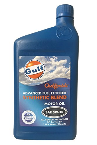 Gulfpride Advanced Fuel Efficient Synthetic Blend Motor Oil 5W-30 (12/1 qt)