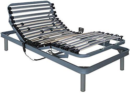 Ventadecolchones - Cama Articulada Reforzada Adaptator con Motor eléctrico Medida 80 x 180 cm