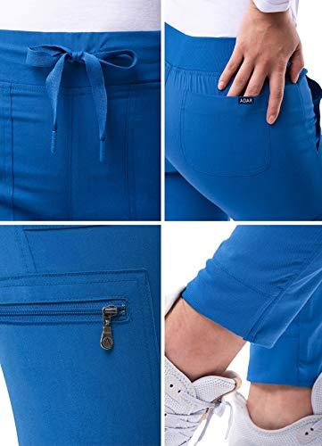 Adar Pro Scrubs for Women - Ultimate Yoga Jogger Scrub Pants