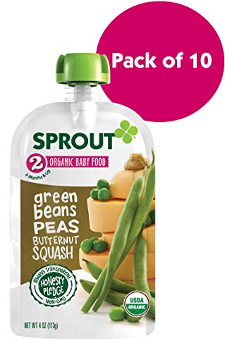 Sprout Organic Stage 2 Baby Food Pouches,