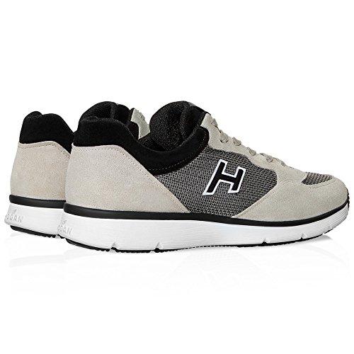Hogan Hombre HXM2540S421BZC456G Beige/Negro Cuero Zapatillas