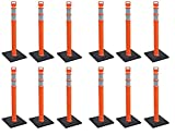 Cortina#03-747RBC-3-3 Pack 45'' Orange Delineator Post Kit (4 X Pack of 3)