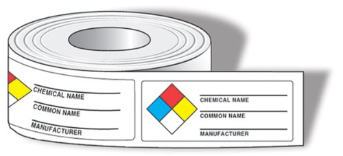 Accuform LZN601EV NFPA Common Chemical Identifier Labels, 1-1/2