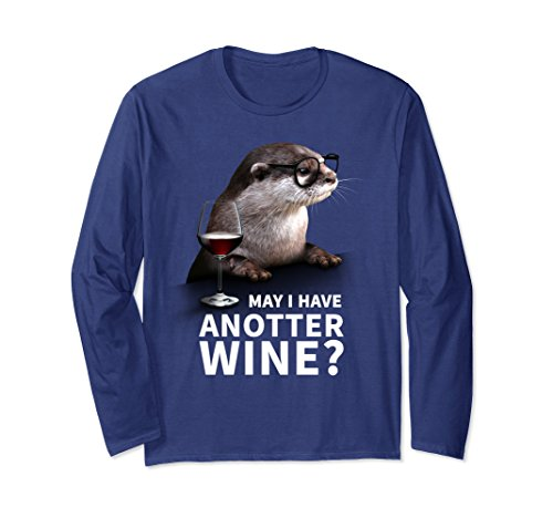 Unisex Cute Otter Sweater for Wine Drinkers and Wine Lover Medium - Glases Cute