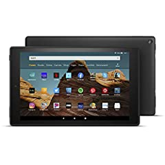 Fire HD 10 is our largest display in 1080p full HD—now 30% faster thanks to the powerful new 2.0 GHz octa-core processor and 2 GB of RAM. Stream movies, watch videos, or play games with the enhanced Wi-Fi. Enjoy downloaded content on the go w...