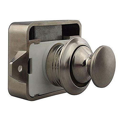 Push Button Catch Cupboard Door Knob Latch Lock for RV Camper Motor Home  Furniture Caravan Cabinet Drawer Latch Desk