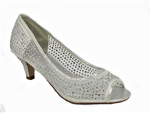 Sandales SKO'S 23 Femme Pour CL218 Silver Twx7wqdnf1