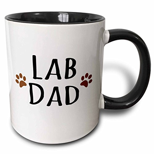 - 3dRose 153936_4 Lab Dog Dad Mug 11 oz Black