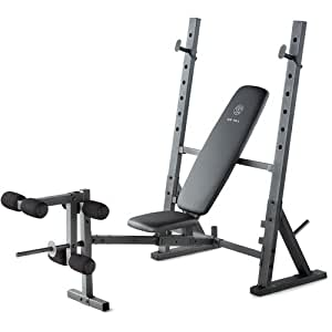 Home Gym Olympic Weight Bench Steel Construction Exercise Chart Foam Covers