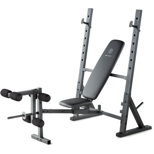 Home Gym Olympic Weight Bench, steel construction, Exercise chart, foam covers by -